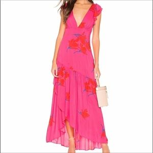 NWT FREE PEOPLE She's a Waterfall Maxi Dress Pink